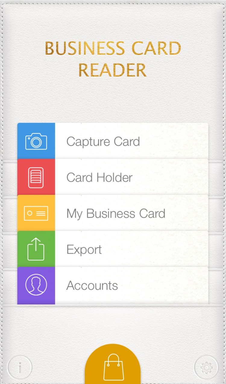 Business card reader app